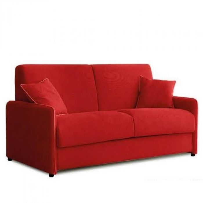 canapé convertible rouge
