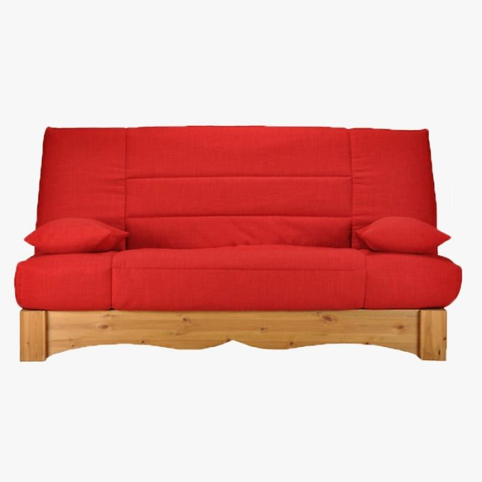banquette clic clac arc rouge avec matelas 14 cm. Black Bedroom Furniture Sets. Home Design Ideas