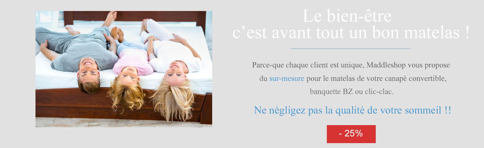 achetez votre matelas bz clic clac au meilleur prix. Black Bedroom Furniture Sets. Home Design Ideas